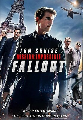 Mission Impossible:Fallout (DVD 2018) Action/Thriller-Stars Tom Cruise