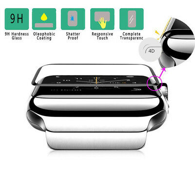 3D Tempered Glass Screen Protector Clear Case Fr Apple Watch iWatch 40m Series 4