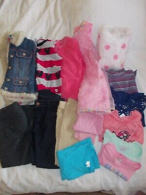 Bulk Lot Girls Clothes Size 5  -  15 Items In Total