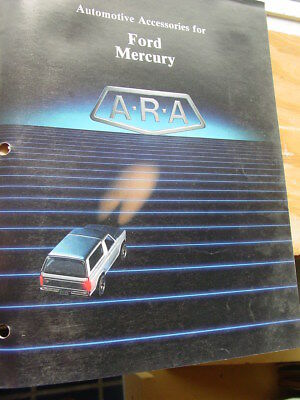 A-R-A Automotive Accessories For Ford Mercury Catalog, Sound Systems A/c, 12 Pgs