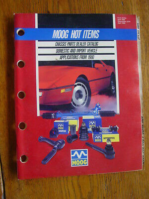 1989 Moog Hot Items Chassis Parts Dealer Catalog, Applications From 1980, 96 Pgs