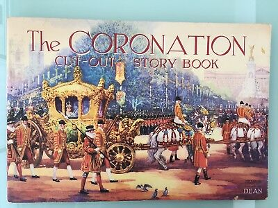 VINTAGE - The Coronation Cut Out Story Book c1950's - RARE - Unused