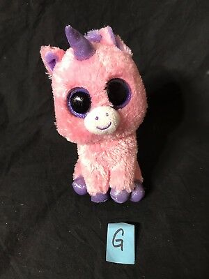 TY BEANIE BOO ELLIE the ELEPHANT Plush Toy pink Glitter Eyes 6 ... 224d89c23d89