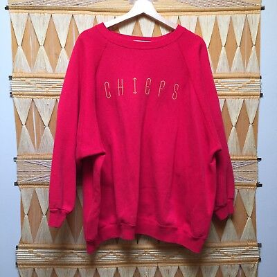 Kansas City Chiefs Women's Plus Size 4XL Extra Large Pullover Red Sweat Shirt