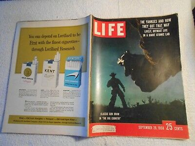 LIFE Magazine-SEPTEMBER 29,1958-CLASSIC GUN DRAW IN 'THE BIG COUNTRY'