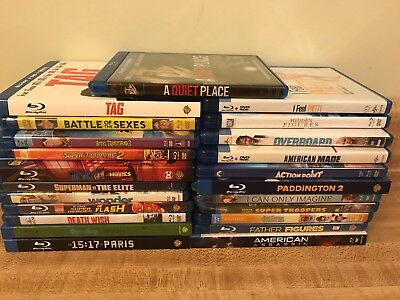23x Blu Ray Lot A quiet Place Tag I Feel Pretty Hotel Transylvania 3 Not Viewed