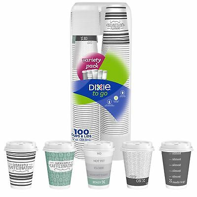 Dixie To-Go Cups with Lids 12 oz, 100-count *No Tax Ship Free*