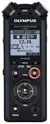 OLYMPUS Linear PCM Recorder LS-P4 black w/Tracking JAPAN NEW F/S