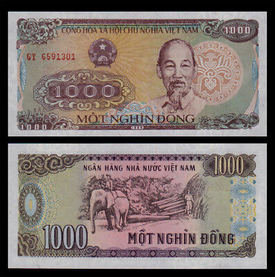 LOT 1000 PCS,Vietnam 1000 DONG paper money,1988 edition,Rare commemorative coin