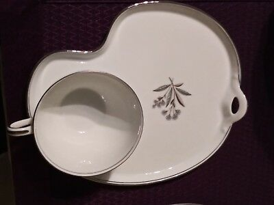 Noritake Bessie Snack Dish Plate and tea cup Set of 2