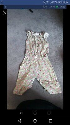 Next girls floral summer playsuit, 4-5 years