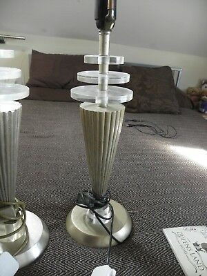 large vintage retro table lamps from around 1970 close pair