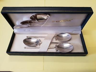 Sterling Silver Teaspoon set 6x spoons with golf club & ball GOLF PRIZE GIFT