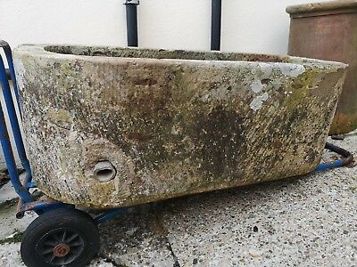 Antique Weathered Stone Trough .
