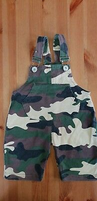 Boys 9 - 12 months camouflage dungarees - soft material