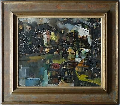 Olivier Foss Listed French Artist Signed Oil On Canvas