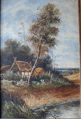 19TH Century LARGE ORIGINAL SIGNED OIL ON CANVAS unidentified artist