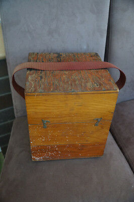 Old Antique Wooden Sea Compass Box Storage Box Only