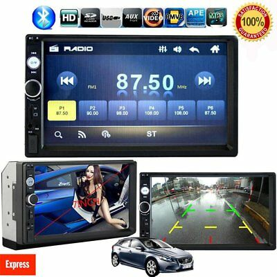 "HD 7"" Double 2Din Bluetooth Car Stereo Radio FM/MP5 Player Touch Screen In-Dash"