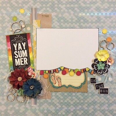 handmade scrapbook page 12 X 12 Yay Summer In The Sun Themed Layout