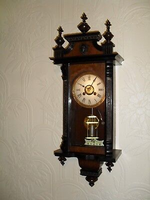 Very Miniature Antique Vienna Type Wall Clock