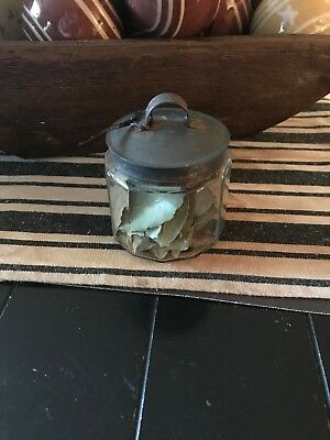 Early  Apothecary  Jar  w/Tin Lid