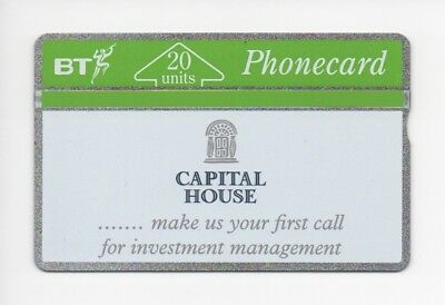BT Phonecard BTP088, Capital House (2), for Investment Management, mint unused
