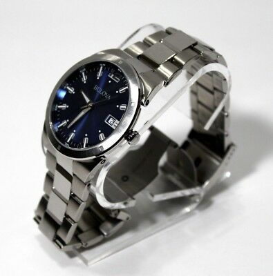 Bulova 96B220 Classic Blue Dial Watch for Men (Pre-owned)