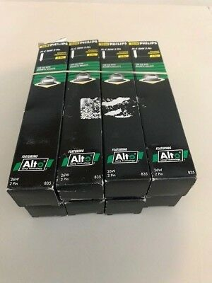 Lot of (8) PHILIPS 26W/35 PL-C Base G24d3 CFL 2 Pin CFL Bulbs