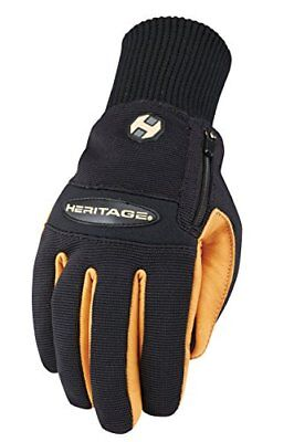 Heritage Glove Winter Work Glove, Black/Tan, Size 9 (Size 9|Black/Tan)