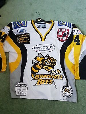 Bracknell Bees game ice hockey shirt Jersey xl Oakford Nottingham Panthers