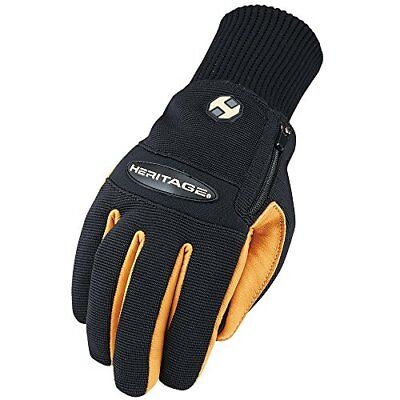 Heritage Glove Winter Work Glove, Black/Tan, Size 10 (Size 10|Black//Tan)