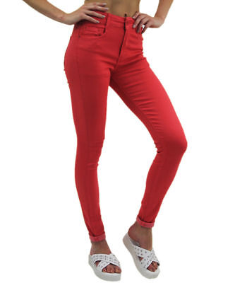 **HUGE SALE** Women's Ladies Skinny Fit Coloured Stretch Jeans Girls Size 8-16