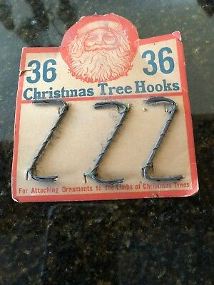 Rare Antique late 1800's Handcrafted Twisted Wire Christmas tree hooks on origin