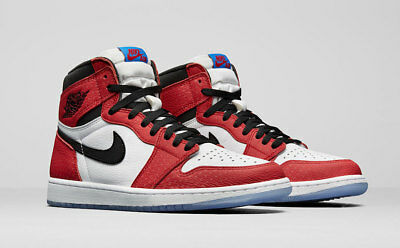 955099d6f05 NIKE AIR JORDAN 1 RETRO HIGH OG Origin Story Spider Man 555088 602 4y-13