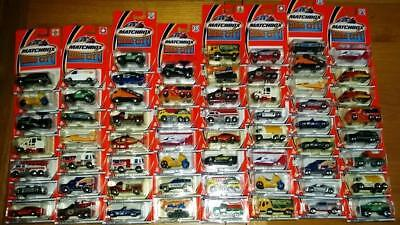 Large job lot of 62 Matchbox Hero City vehicles dated 2002, all mint and sealed