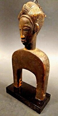 Antique African Baule Heddle Pulley Figure - Côte d'Ivoire - Early 20th Century