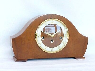 Hermle Bentima 8 Day Walnut Westminster Napoleon Mantle Mantel Chime Clock