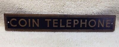 antique telephone  booth sign OLD!