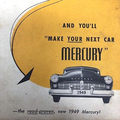 VTG 1949 Ford Mercury Dealer Sales Testimonials Brochure Read What Owners Say