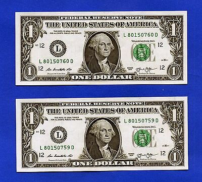 YOU GET 2! $1 SAN FRANCISCO 2013 UNCIRCULATED. #L/D One Dollar Notes + HOLDER