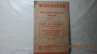 Early Winchdrum, Parts and Instruction Manual, Gearmatic Co., Newton, B.C.