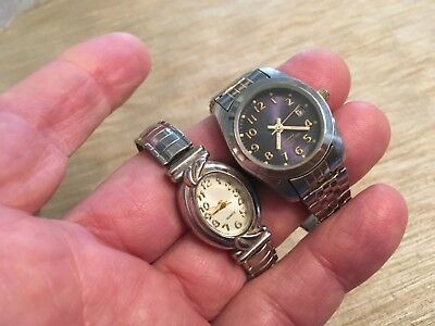 Lot Of 2 Quartz Wrist Watches ( Advance & FIR ) New Batteries Analog