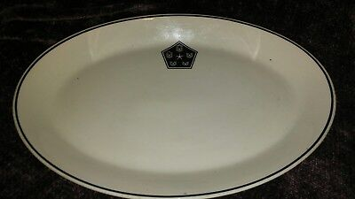 Vtg Syracuse China Syralite Restaurant ware Oval Plate Platter US Military Logo