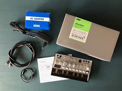 KORG volca bass, analog bass synthesizer, inkl. Originalnetzteil & Kabel + OVP