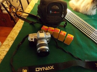 Minolta Dynax 404si Maxum Camera Kit w/ Samsonite Case ~ Excellent Condition