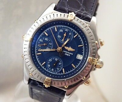 Breitling Chronomat Blue Dial Steel Gold Automatic Chronograph Watch B13050.1