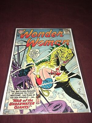 """Wonder Woman #146 """"War of the Underwater Giants"""" 1964 DC Comics Silver Age"""