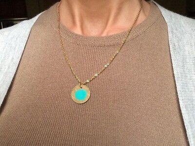 """Anthropologie Necklace with Pendant 18"""" L NEW Antique Gold/ Bronze tone"""