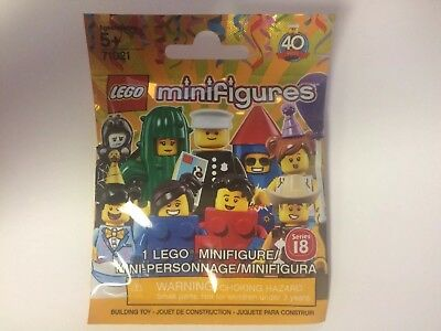 3x Lego Minifigure Series 18 Blind Bag  71021  Lot Of 3 Sealed Bags New